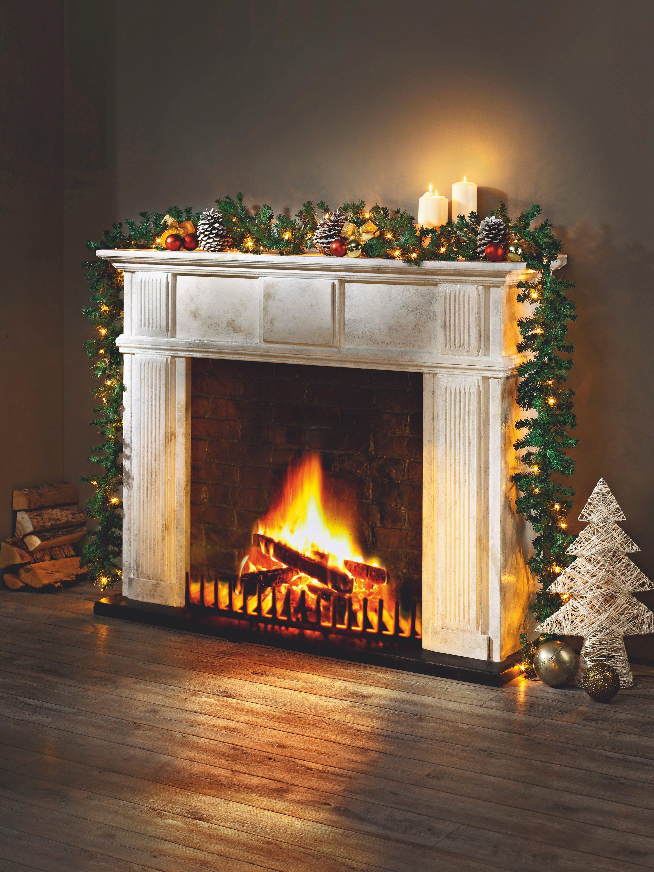Beleuchtete Bilder Weihnachten.Tannengirlande Beleuchtet Jetzt Bei Weltbild De Bestellen