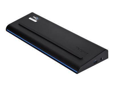 TARGUS USB 3.0 SuperSpeed Dual Video Docking Station mit 90Watt Notebook Ladegerät DVI HDMI 6x USB