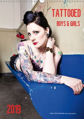 TATTOOED Boys & Girls / UK-Version (Wall Calendar 2019 DIN A3 Portrait), TOBY SEIFINGER