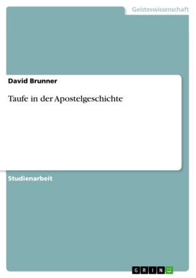 Taufe in der Apostelgeschichte, David Brunner