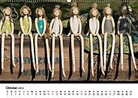 Tausendschön - handgeferigte Tonwesen (Wandkalender 2019 DIN A2 quer) - Produktdetailbild 2