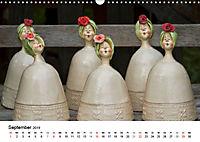 Tausendschön - handgeferigte Tonwesen (Wandkalender 2019 DIN A3 quer) - Produktdetailbild 9