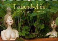 Tausendschön - handgeferigte Tonwesen (Wandkalender 2019 DIN A2 quer), Hans Pfleger