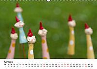 Tausendschön - handgeferigte Tonwesen (Wandkalender 2019 DIN A2 quer) - Produktdetailbild 4