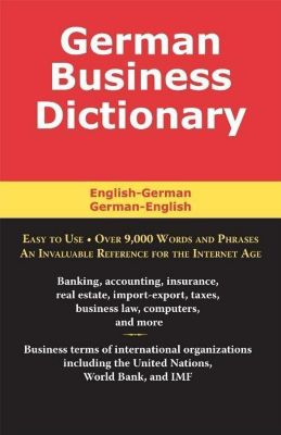Taylor Trade Publishing: German Business Dictionary, Morry Sofer