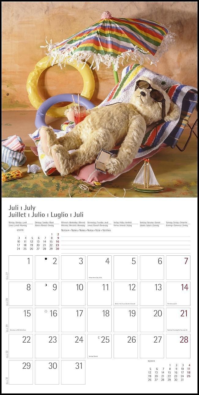 Teddy 2019 Kalender Jetzt Günstig Bei Weltbildde Bestellen