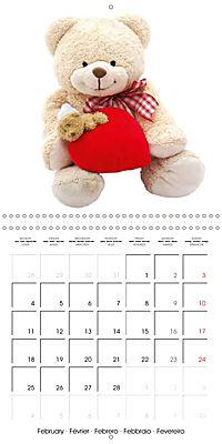 Teddy Time (Wall Calendar 2019 300 × 300 mm Square) - Produktdetailbild 2