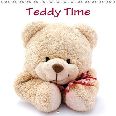 Teddy Time (Wall Calendar 2019 300 × 300 mm Square), Anke van Wyk - www.germanpix.net, Anke van Wyk