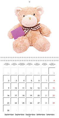Teddy Time (Wall Calendar 2019 300 × 300 mm Square) - Produktdetailbild 9