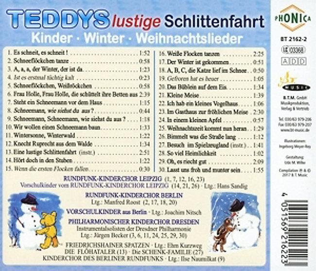 Lustige Weihnachtslieder Für Kinder.Teddys Lustige Schlittenfahrt Cd Bei Weltbild De Bestellen