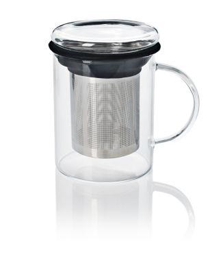 Teeglas mit Filter und Deckel