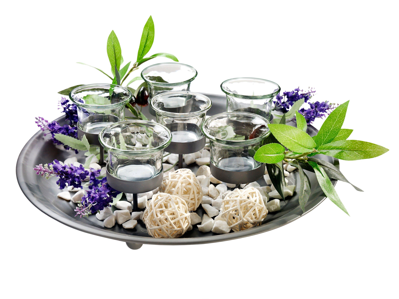 Teelicht Tablett Mit Deko Jetzt Bei Weltbildde Bestellen