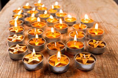 Teelichter Stern, 32 Stück