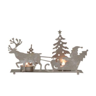 Teelichthalter Santa mit Schlitten