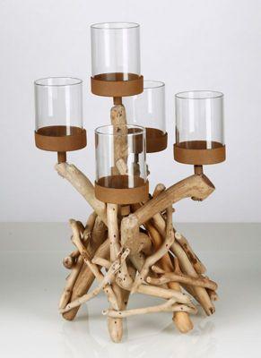 Teelichthalter Treibholz