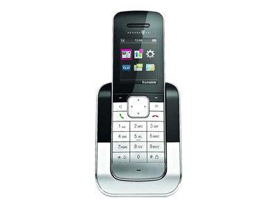 TELEKOM Sinus 806 Pack schwarz/metall zusätzliches Mobilteil inkl. Ladeschale für Sinus A 806