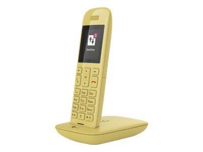 TELEKOM Speedphone 11 mit Basis gelb DECT Handteil für CAT-iq, a/b Port und TAE für alle Speedports mit CAT-iq Basis
