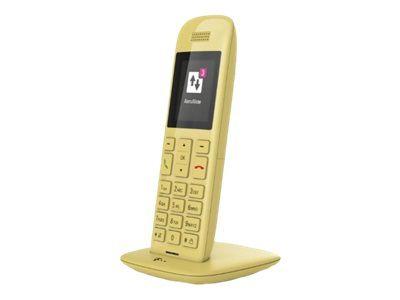 TELEKOM Speedphone 11 mit Basis und AB gelb DECT Handteil für CAT-iq a/b Port und TAE für alle Speedports mit CAT-iq Basis