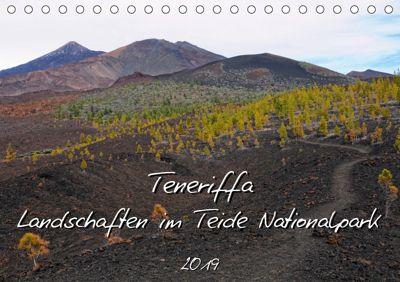 Teneriffa - Landschaften im Teide Nationalpark (Tischkalender 2019 DIN A5 quer), Anja Frost