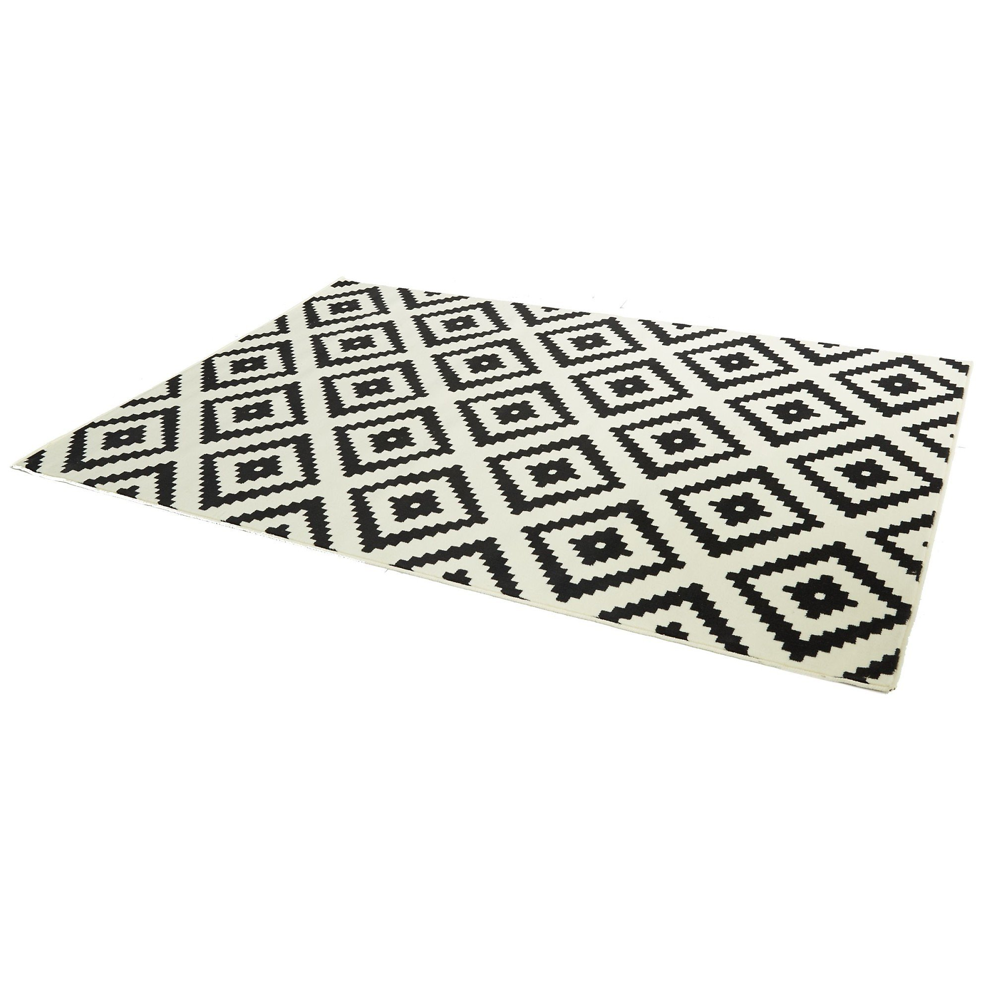 Teppich Raute Creme Schwarz 160x230 Bestellen Weltbild De