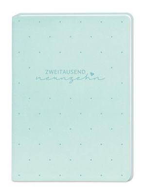 Terminplaner Lederlook A6 Mint (Zweitausend Neunzehn) 2019, Grafik Werkstatt