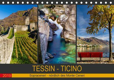 Tessin - Ticino (Tischkalender 2019 DIN A5 quer), Enrico Caccia