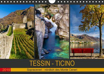 Tessin - Ticino (Wandkalender 2019 DIN A4 quer), Enrico Caccia