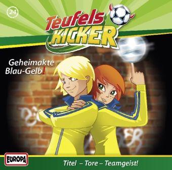 Teufelskicker Hörspiel Band 24: Geheimakte Blau-Gelb! (1 Audio-CD), Frauke Nahrgang