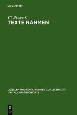 Texte rahmen, Till Dembeck
