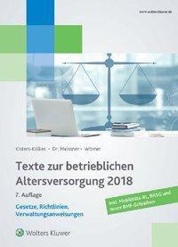 Texte zur betrieblichen Altersversorgung 2018, Frank Wörner