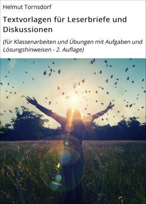 Textvorlagen für Leserbriefe und Diskussionen, Helmut Tornsdorf
