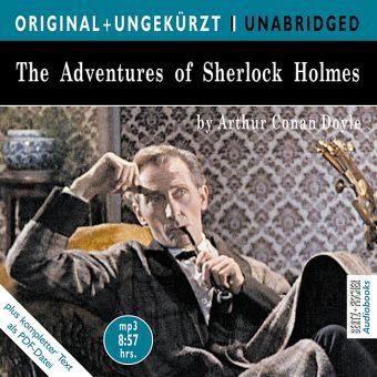 The Adventures of Sherlock Holmes, 1 MP3-CD, Arthur Conan Doyle