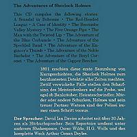 The Adventures of Sherlock Holmes, 1 MP3-CD - Produktdetailbild 1