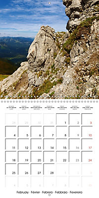 the alps - from valley to summit (Wall Calendar 2019 300 × 300 mm Square) - Produktdetailbild 2