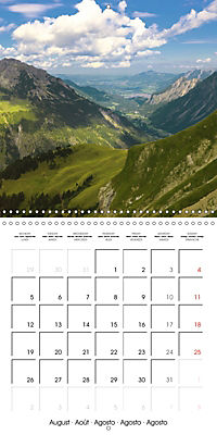 the alps - from valley to summit (Wall Calendar 2019 300 × 300 mm Square) - Produktdetailbild 8