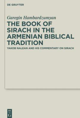 The Book of Sirach in the Armenian Biblical Tradition, Garegin Hambardzumyan