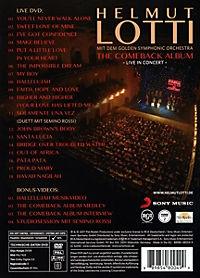 The Comeback Album - Live in Concert - Produktdetailbild 1