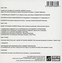 The Complete Works Of Edgard Varèse Vol.1 (3cd) - Produktdetailbild 1
