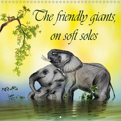 The friendly giants, on soft soles (Wall Calendar 2019 300 × 300 mm Square), Dusanka Djeric