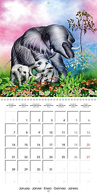 The friendly giants, on soft soles (Wall Calendar 2019 300 × 300 mm Square) - Produktdetailbild 1