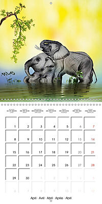 The friendly giants, on soft soles (Wall Calendar 2019 300 × 300 mm Square) - Produktdetailbild 4