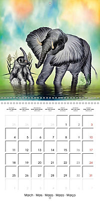 The friendly giants, on soft soles (Wall Calendar 2019 300 × 300 mm Square) - Produktdetailbild 3