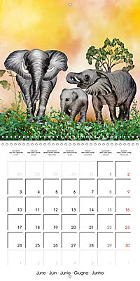 The friendly giants, on soft soles (Wall Calendar 2019 300 × 300 mm Square) - Produktdetailbild 6