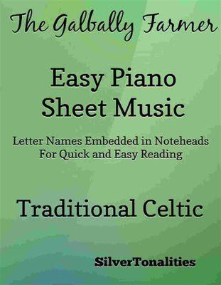The Galbally Farmer Easy Piano Sheet Music, Traditional Celtic, SilverTonalities
