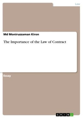 The Importance of the Law of Contract, Md Moniruzzaman Kiron