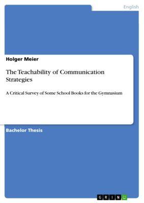 The Teachability of Communication Strategies, Holger Meier