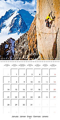 The thrill of climbing: Cliffs and rock faces (Wall Calendar 2019 300 × 300 mm Square) - Produktdetailbild 1