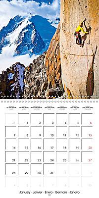 The thrill of climbing: Cliffs and rock faces (Wall Calendar 2019 300 × 300 mm Square) - Produktdetailbild 1