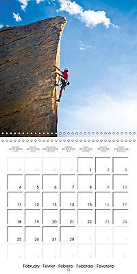 The thrill of climbing: Cliffs and rock faces (Wall Calendar 2019 300 × 300 mm Square) - Produktdetailbild 2