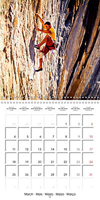 The thrill of climbing: Cliffs and rock faces (Wall Calendar 2019 300 × 300 mm Square) - Produktdetailbild 3